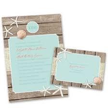Wedding Invitations Beach Retreat Invitation With Free Response Postcard