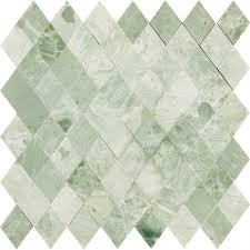 Glazzio Tiles Versailles Series by Kitchen Bathroom Diamond Mint Green Polished Marble Stone Mosaic