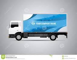 100 Truck Advertising Advertisement Or Corporate Identity Design Template On White