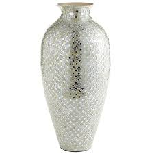 white silver mosaic vase tall pier 1 imports