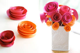 DIY Paper Flower Tutorial Step By Instructions For Making Crepe Roses Lilies And Marigold Flowers Hand Made Decorative