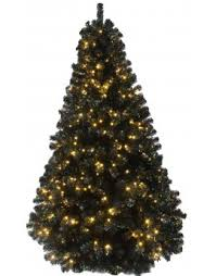 The 7ft Pre Lit Black Iridescence Pine Tree With Warm White Lights