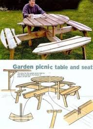 hexagonal picnic table plan from popular mechanics free