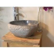 vasque à poser en naturelle galet de riviere 40 cm 32016