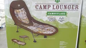 Timber Ridge Camping Chair With Table by Timber Ridge Camp Lounger Cot Chair Camouflage Costco Weekender