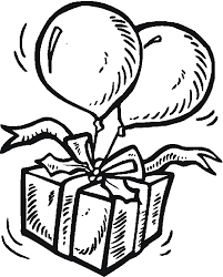 Birthday Balloon Coloring Pages 7