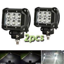 Pair 12V 24V Spot Flood Beam 4Inch 18W LED Work Light Bar Offroad ... 4 Inch 54w Led Flood Beam Car Offroad Truck Work Light Dc 1030v 55 X 34 Mirror Size 24w 1500lm Headlight Led Work Light Atv 4inch 18w Cree Led Spot Bar Pods Lights 4wd New Bucket Boys Electrical Contractors Llc Commander 750 And 1200 Series Federal Signal 4x 4inch 18w Cree Spot Driving Fog Lamp Safego 2pcs Bar Offorad Suv Boat 4x4 4wd 6 Rectangular 2150 Lumens Elite Lot Two Mini 27w 9 Worklights