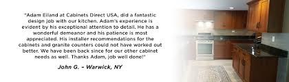 testimonials why people buy cabinets in nj from cabinets direct usa