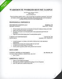 warehouse shipping clerk resume sle worker genius image inssite