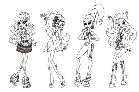 Monster High Girls Coloring Pages