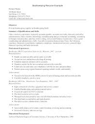 Bookkeeping Resume Examples Free Excellent Bookkeeper Cover Letter Samples