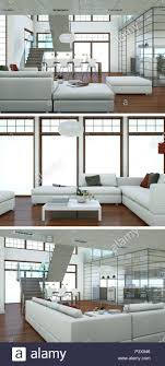 100 Interior Loft Design Three Views Of Modern Interior Loft Design With Sofas 3d