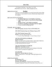 Resume Template Draft Example Sample