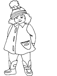 Girl4 Winter Coloring Pages Coloring Book