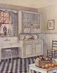 1920s Kitchen Gallery Kitchen flooring cabinetry nooks and