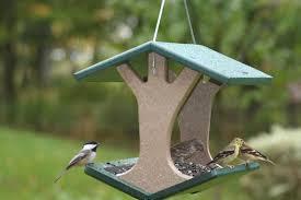 Choice Recycled Hanging Fly Thru Bird Feeder