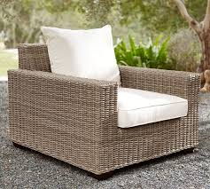 Pottery Barn Seagrass Club Chair by Torrey All Weather Wicker Square Arm Occasional Chair Natural