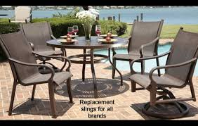 Stackable Outdoor Sling Chairs by Replacement Slings And Parts For Patio Furniture
