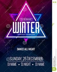 Dance Party Dj Battle Poster Design Winter Disco Music Event Flyer Or Banner Illustration Template