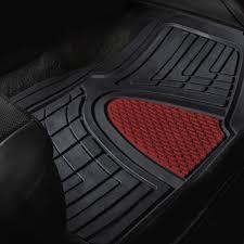 BESTFH: New 4pcs Floor Mats Set For Car Truck Mat Set Burgundy With ...