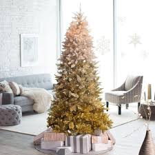 4 Ft Pre Lit Potted Christmas Tree by 7 5ft Pre Lit Vintage Gold Ombre Spruce Christmas Tree Walmart Com
