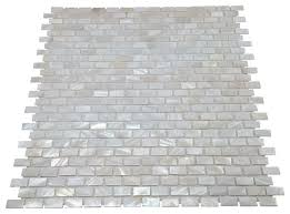 mother of pearl white mini brick mosaic tile contemporary