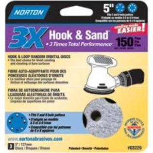 "Norton 03229 Hook and Loop Sanding Disc - 5"", 150 Grit"