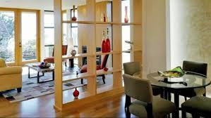 Furniture Room Divider Design Ideas Varnished Wood Feature Display Shelve