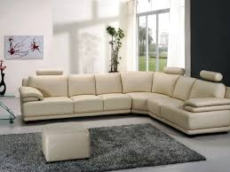 Alessia Leather Sectional Sofa by Alessia Leather Living Room Furniture With Awesome White Sofa And