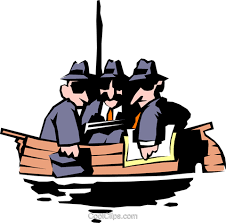 All in the same boat Royalty Free Vector Clip Art illustration