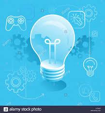 隕llustration in flat and isometric style light bulb concept