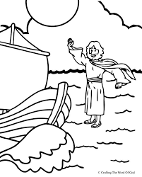 Storm Crafting The Word Of God Coloring Pages Jesus Calms Sea