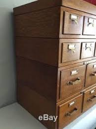 library bureau ten draw stacking oak file unit oak card catalog library bureau