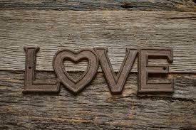 Download Word Love On Rustic Wood Stock Image Of Metal