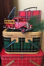 100 Fire Truck Lunch Box Vintage Plaid Picnic Baskets And Lunchbox With Red Fire Truck Are