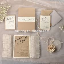 Rustic Chic Vintage Burlap Theme Bridesmaid Invitations With Lace Twine Box