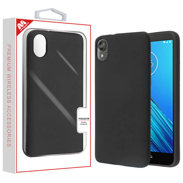 Black Liquid Silicone Protector Cover with Package for Motorola Moto E6