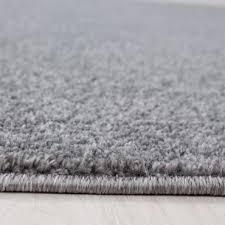 kurzflor flachflor teppich wohnzimmerteppich einfarbig gabbeh optik hellgrau