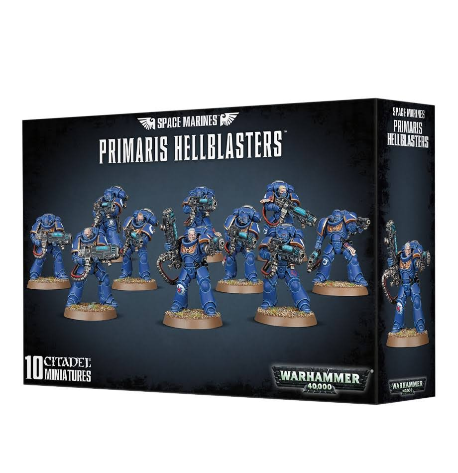 Games Workshop Warhammer 40,000 Space Marines Primaris Hellblasters - 10 Citadel Miniatures