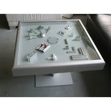 octanorm couchtisch mit integrierter vitrine 80 x 80 x 55 cm