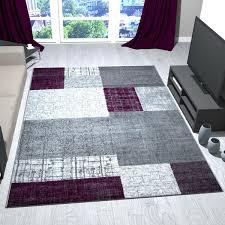 flachgewebe teppich in lila grau