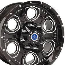 100 6 Lug Truck Wheels OE 20x9 Wheel Fits Ford Revolver 4Play Rim Black Machined Face