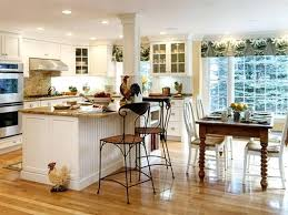 Kitchen Decoration Traditional Metal Stools And White Island Inside Awesome Decorating Ideas With Laminate Flooring