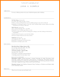 Child Care Provider Duties For Resume