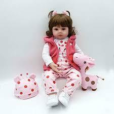 Soft Vinyl Silicone Realistic Reborn Baby Dolls Real Life 17 43CM