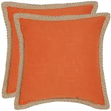 Safavieh Sweet Serona 18 inch Orange Decorative Pillows Set of 2