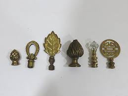 Vintage Brass Lamp Finials by Antique Vintage Brass Metal Lamp Finials Lot Of 5 Large Ornate