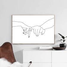 eternal liebe abstrakte linien poster haus dekorative malerei wohnzimmer schlafzimmer moderne kunst wandbild ohne innenrahmen
