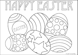 Easter Egg Coloring Sheets My Art To Inspire