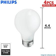 philips 60w 120v a shape a19 e26 duramax soft white incandescent